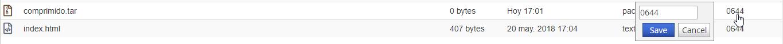 Cambiar permisos de un fichero o directorio con el Administrador de archivos de cPanel