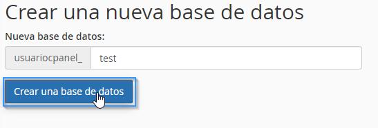 Establecer nombre de la base de datos