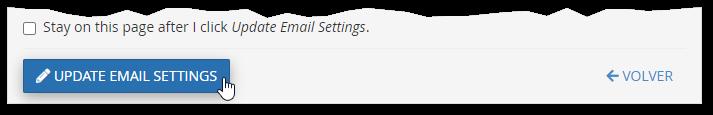 Establecer una nueva contraseña en una cuenta de correo de cPanel