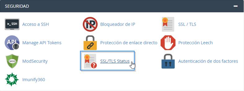 Herramienta para comprobar el estado de un certificado SSL en cPanel