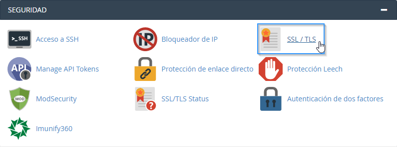 Herramienta SSL/TLS de cPanel