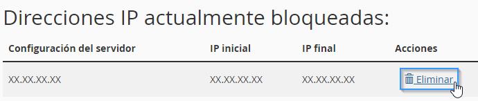 Desbloquear IP desde cPanel