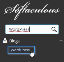 Buscar WordPress en Softaculous
