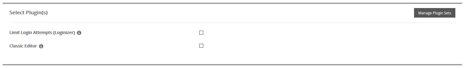 Seleccionar plugins para instalar WordPress con Softaculous