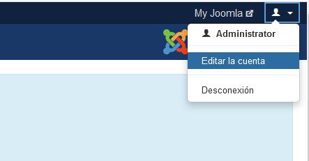 Editar la cuenta de Joomla desde tu perfil