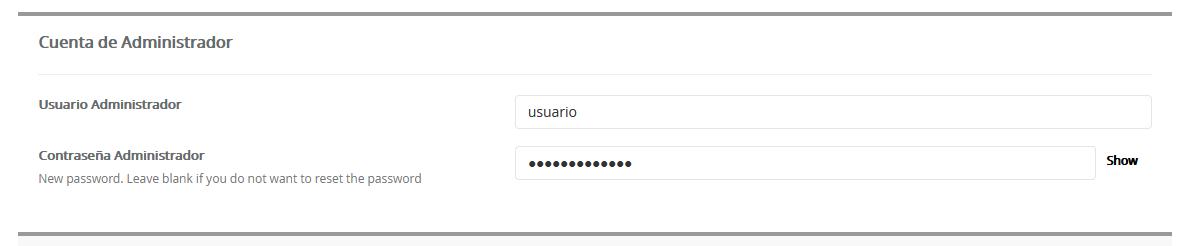 Establecer una nueva contraseña en Joomla