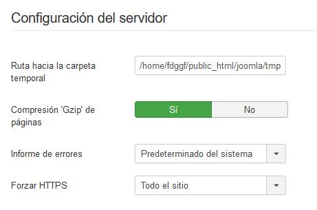 Forzar SSL en Joomla desde el backend