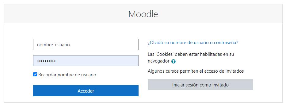 Entrar en Moodle