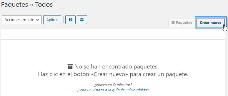Exportar el contenido de una web con el plugin Duplicator