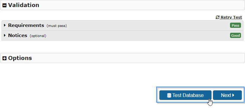 Realizar un test de conexión con la base de datos en el plugin Duplicator de WordPress