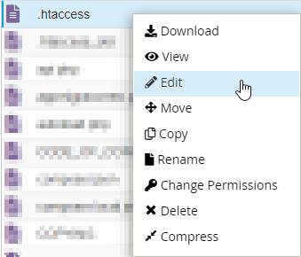 Editar fichero .htaccess