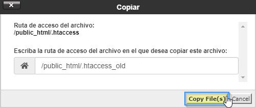 Renombrar fichero .htaccess