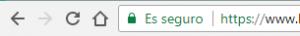Aviso de web segura en el navegador