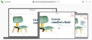 Ejemplo de cómo se ve una web en dispositivos móviles con Resizer