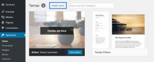 Instalar plantillas en WordPress