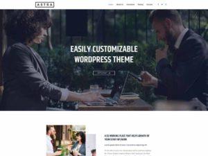 Las mejores plantillas WordPress gratis captura Astra