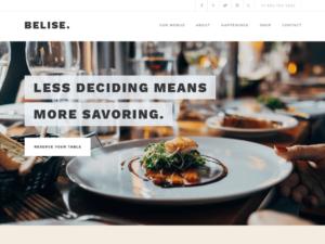 Las mejores plantillas WordPress gratis captura Belise Lite