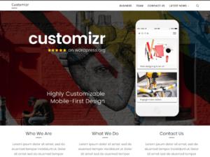 Las mejores plantillas WordPress gratis captura Customizr