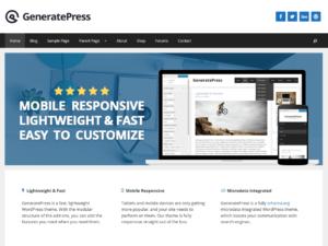 Las mejores plantillas WordPress gratis caputura GeneratePress