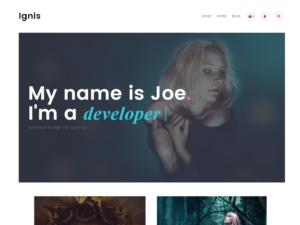 Las mejores plantillas WordPress gratis captura Ignis