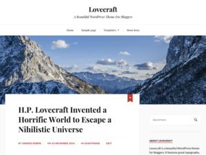 Las mejores plantillas WordPress gratis captura Lovecraft