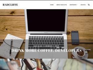 Las mejores plantillas WordPress gratis captura Radcliffe