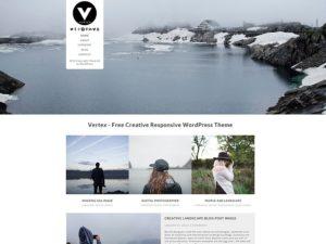 Las mejores plantillas WordPress gratis captura Vertex