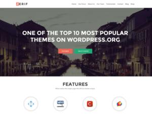 Las mejores plantillas WordPress gratis captura Zerif Lite