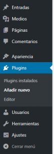 Instalar plugin en WordPress