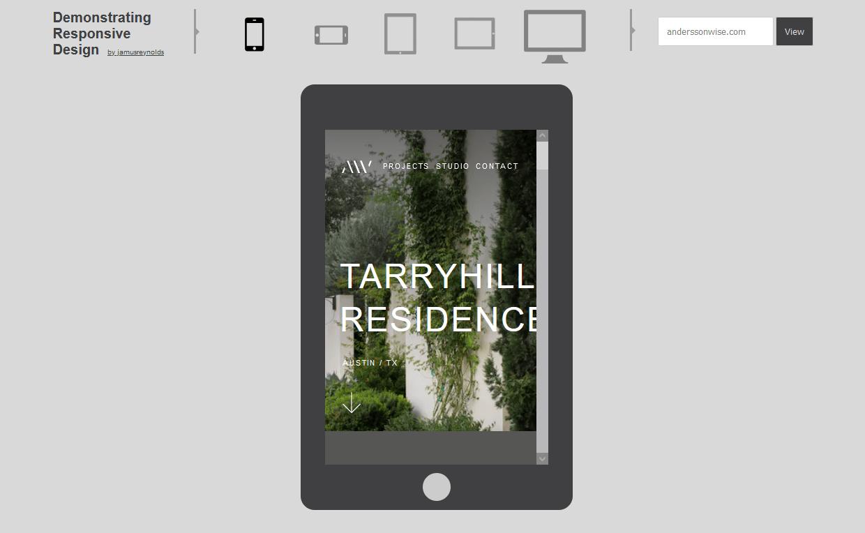 Probar página web en dispositivos móviles con la herramienta Demostrating Responsive Design
