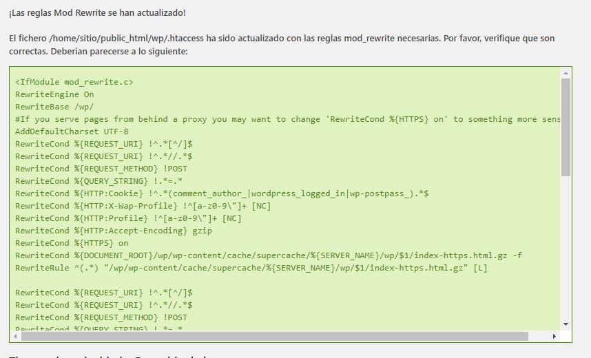 reglas mod rewrite actualizadas wp super cache 1
