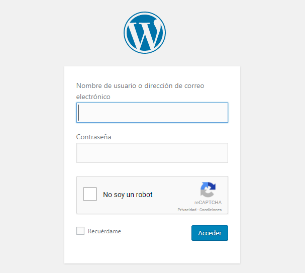 Google Captcha en el login de WordPress