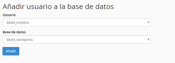 Conectar usuario a la base de datos