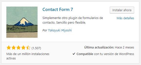 Instalar Contact Form 7