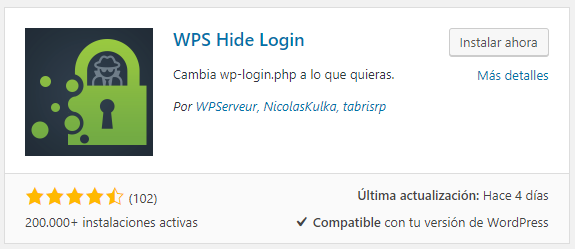 Instalar WPS Hide Login en WordPRess
