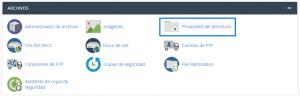 Privacidad del directorio en cPanel