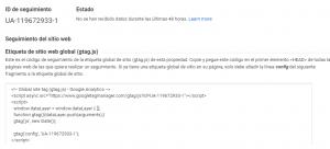 Obtener el ID de Google Analytics