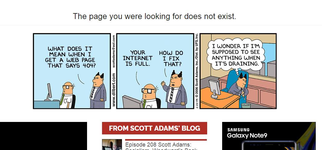 Ejemplo error 404
