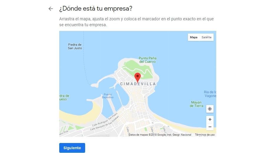 Añadir la dirección en Google Maps