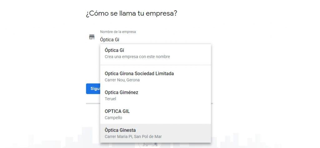 Cómo añadir el nombre de tu empresa en Google My Business