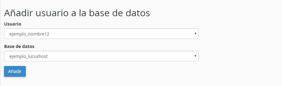 Conectar usuario con la base de datos