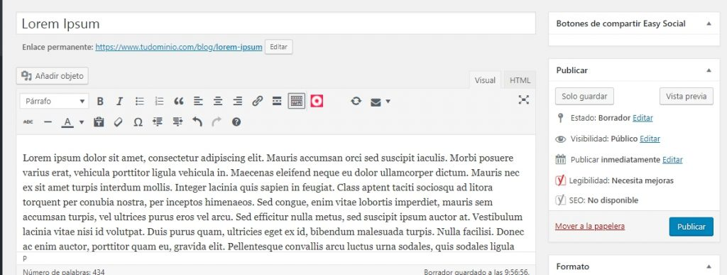 Cómo subir un post a WordPress