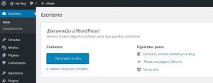 Escritorio WordPress