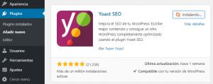 Cómo instalar Yoast SEO en WordPress