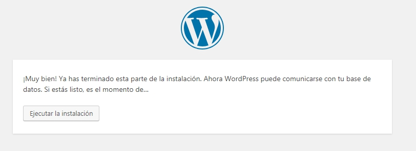 wordpress instalado hosting