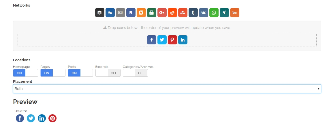Plugins redes sociales WordPress Social Media Share Buttons