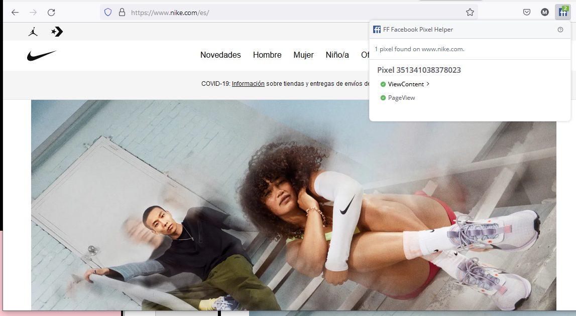 Comprobar que el píxel de Facebook está bien instalado con Firefox