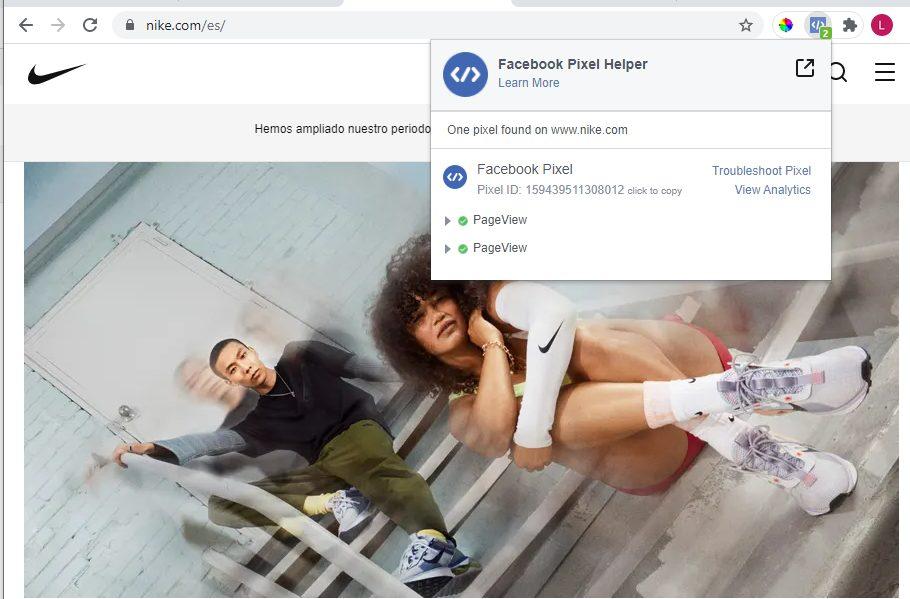 Comprobar que el píxel de Facebook está bien instalado con Google Chrome