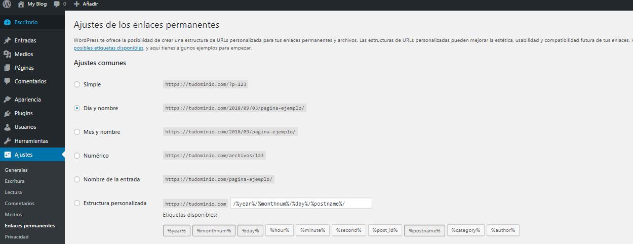 Cómo configurar los permalinks en WordPress para SEO