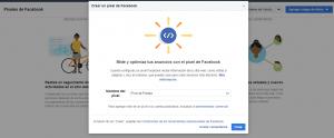 Crear el píxel de Facebook